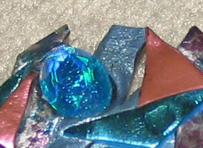 Vintage '80's Costume Jewelry Colorful Freeform Pin