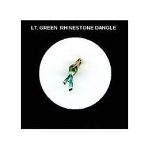 Lt. Green  Rhinestone Ribbon  Nail Art Dangle Jewelry - $3.94