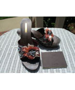Authentic 2005 Louis Vuitton Carmen Mini Monogram Strass Platform Mules ... - $299.00