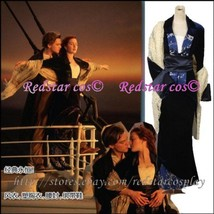 Replica Titanic Rose Flying Dress Costume Victorian - Custom Tailed in Any size - $107.91