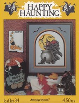 Happy Haunting, Stoney Creek Collection Halloween Cross Stitch Pattern 3... - $18.95