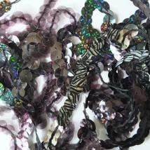"10mm Sequin Trim Sampler Pack. 10 (12"") pieces. Colors: Black Gray Midnight Dark - $9.97"