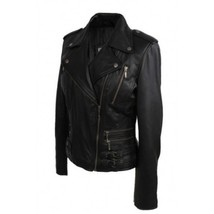 Leather Skin Women Black High Quality Premium Leather Jacket - $179.99