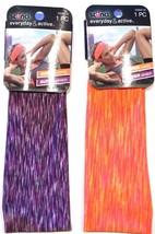 SCUNCI 2 Pc Multi-Colored Fabric Head Bands Everyday & Active Super Comfy - $5.87