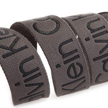 New Calvin Klein Men's Premium CK Logo Cotton Adjustable 38mm Canvas Belt 73545 image 15
