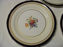 "Aysnley Wadsworth Bone China 6.25"" Bread Plate England Cobalt Blue Floral - $19.99"