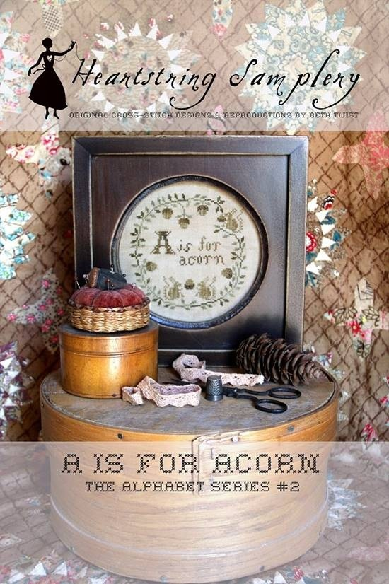 A is for Acorn Alphabet Series #2 patriotic chart Heartstring Samplery