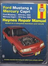 Haynes Repair Manual: Ford Mustang and Mercury Capri, 1979-1993 by John ... - $23.20