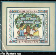 "Dimensions Stamped Cross Stitch Bless Our Family Tree Kit 16"" x 14"" - $16.99"