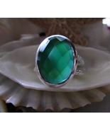 Green Onyx Sterling Silver Ring 5.2g Size 8 - $18.00