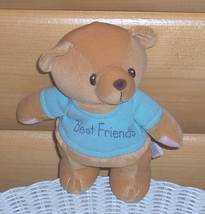 "Cherished Teddies ""Best Friends"" Blue T-Shirt Teddy Bear 8"" Plush - $7.79"