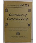 Governments of Continental Europe Volume 2 Education Manual 254  - $8.99