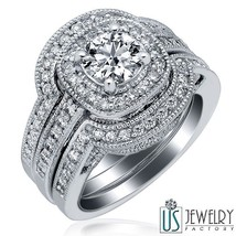 1.51CT(0.71) F- SI2 NATURAL ROUND DIAMOND ENGAGEMENT RING WEDDING BANDS ... - €3.432,18 EUR