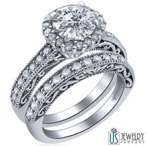 100% Natural Round Diamond Engagement Ring Wedding Band 14k 1.89 Ct (1.0... - £3,932.70 GBP