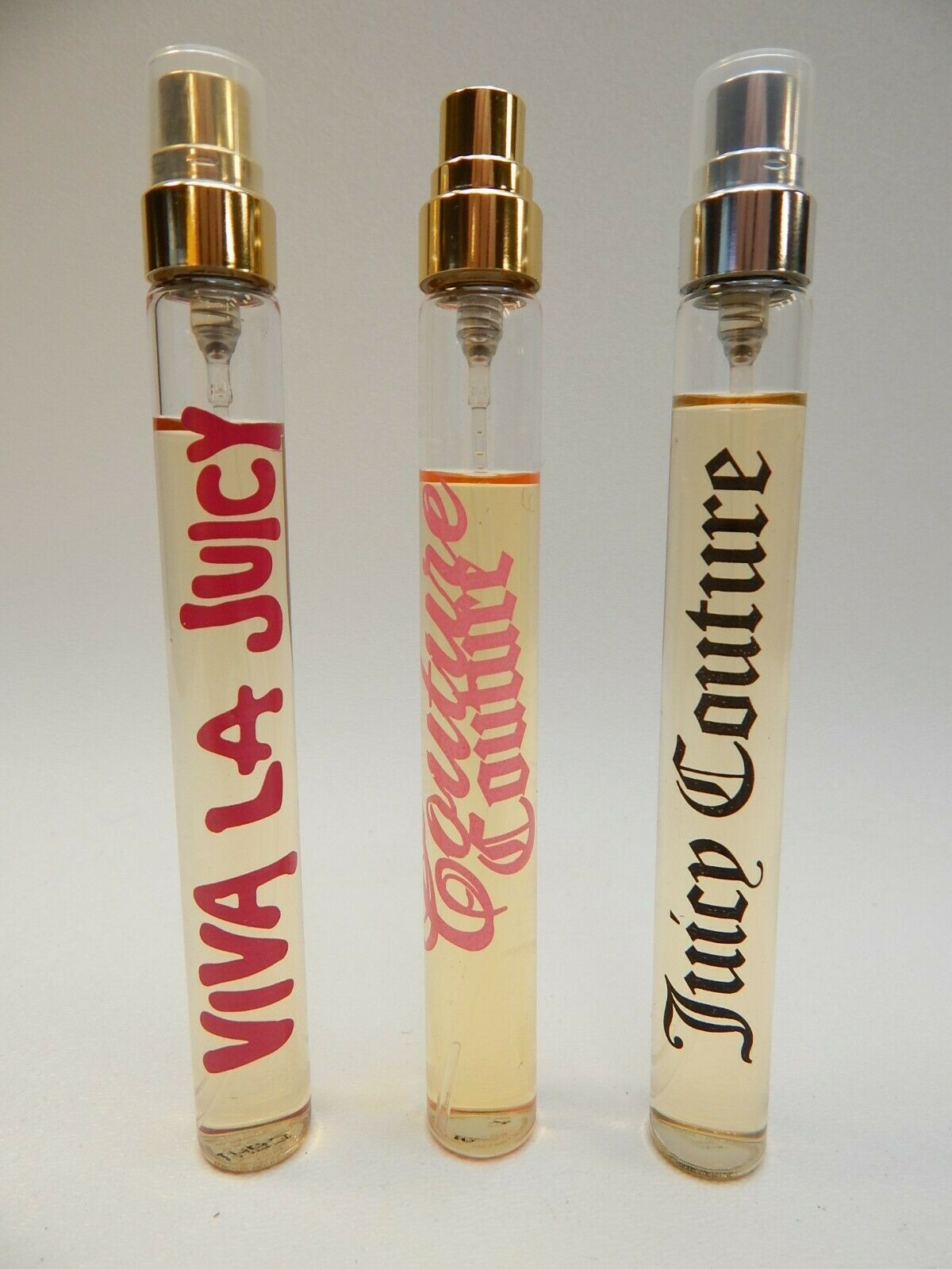 VIVA LA JUICY BY JUICY COUTURE 10ml Red Giorgio Beverly Hills Perfume Lot USED