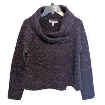 Ellen Tracy Wool Blend Burgundy & Gray Marled Sweater ~ Medium Drape - $31.95
