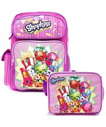 "Shopkins Large 16"" Inches Backpack with Matchin... - $37.61"