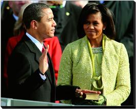 President Barack & Michelle Obama-16 x 20 Photo Gallery Wrapped Stretche... - $94.95