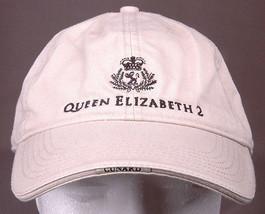 Queen Elizabeth 2 Hat-Adjustable Strap-Embroidered Logo-Tan-Ship-Conrad-... - $24.16