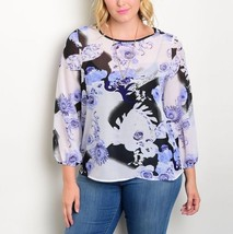 Plus Size Women Top Blouse Shirt 1X/2X/3X - $24.98