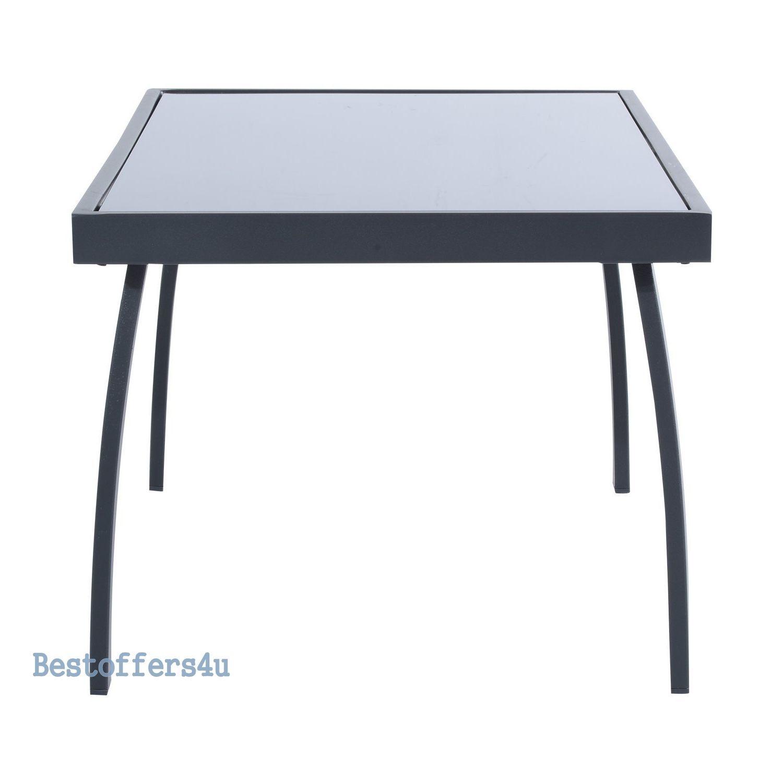 Luxury Garden Set 4pcs Contemporary Black Textilene Mesh Sofa Table 2 Chairs New image 5