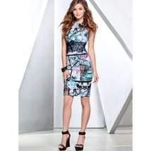 Floral Lace Waist Sleeveless Women Bodycon Dress - $24.18