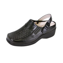 24 HOUR COMFORT Madison Women Wide Width Decorative Pattern Clog for Work - $39.95