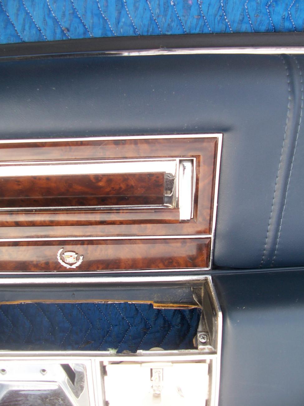 1990 CADILLAC BROUGHAM LEFT REAR BLUE DOOR PANEL OEM USED FLEETWOOD  1991 1992