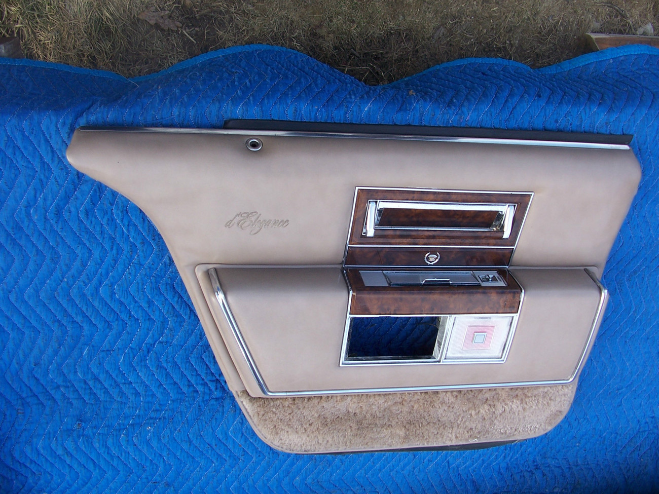 Primary image for 1990 CADILLAC BROUGHAM LEFT REAR TAN DOOR PANEL OEM USED D'ELEGANCE  1991 1992