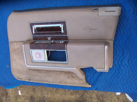 1990 CADILLAC BROUGHAM RIGHT FRONT TAN DOOR PANEL OEM USED D'ELEGANCE  1... - $252.45