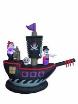 Halloween Inflatable Pirate Ship Skeleton Crews Air Blown Blowup Yard De... - €109,67 EUR