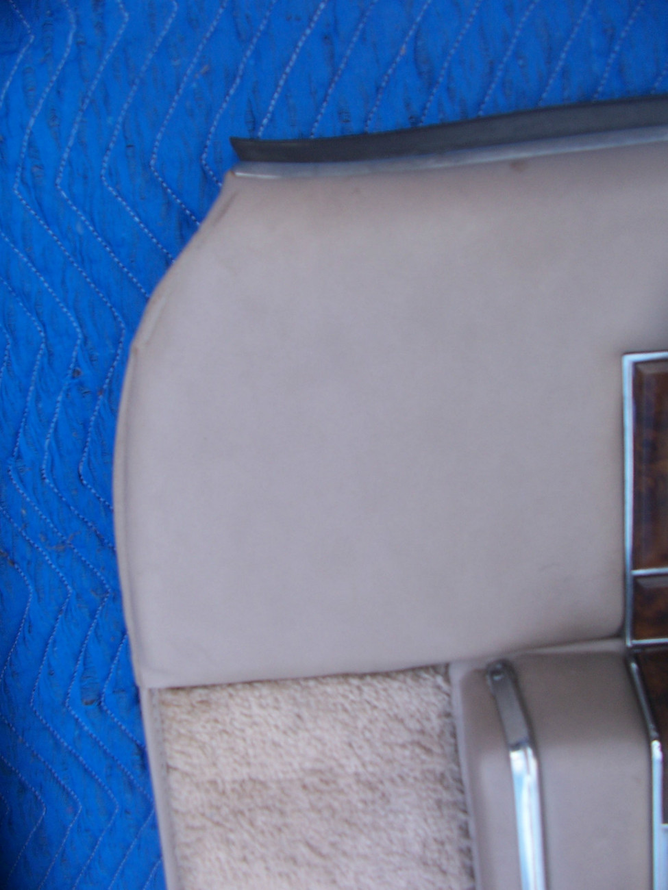 1990 CADILLAC BROUGHAM RIGHT FRONT TAN DOOR PANEL OEM USED D'ELEGANCE  1991 1992
