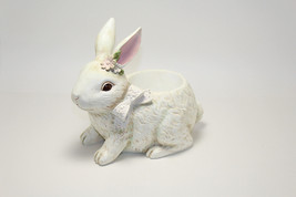Easter Bunny Planter with Bow & Flower - $19.80
