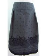 EXOFFICIO 16 Gray Black Floral Print Pleats Cri... - $24.75
