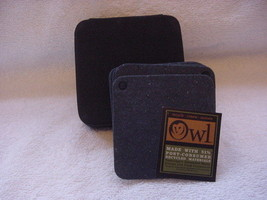 Owl recycled coasters with case- six coasters - $10.00