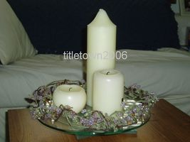 """PartyLite Dew Drop Ring 8 1/2"""" RETIRED Party Lite - $9.99"""