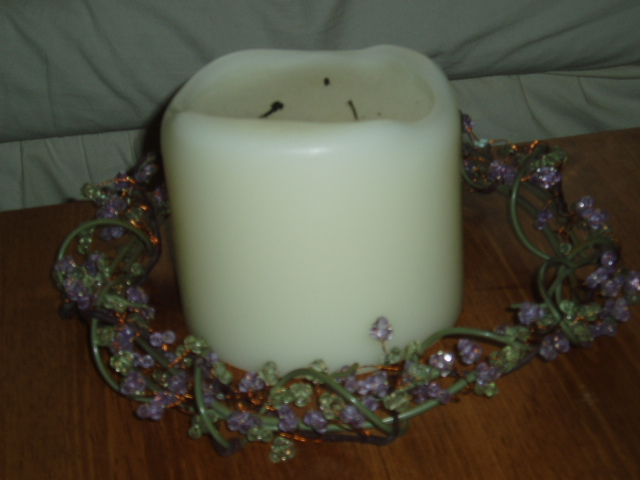 """PartyLite Dew Drop Ring 8 1/2"""" RETIRED Party Lite"""