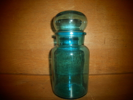 Blue Vase with Lid , Belgium - $25.00
