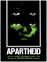 "698.Political Quality Design Poster.Solidarity with Africa ""Apartheid"" H... - $10.45+"