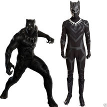 Captain America Civil War T'Challa Black Panther Cosplay Costume Jumpsui... - $186.11+
