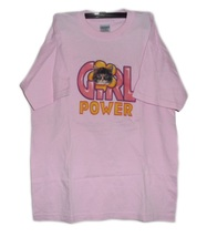 Gildan Heavy Weight 100% Cotton Tshirt T-Shirt Pink Girl Power Cat Size ... - $3.99