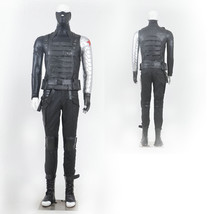 Captain America 2 The Winter Soldier Bucky Barnes Cosplay Costume - $370.75