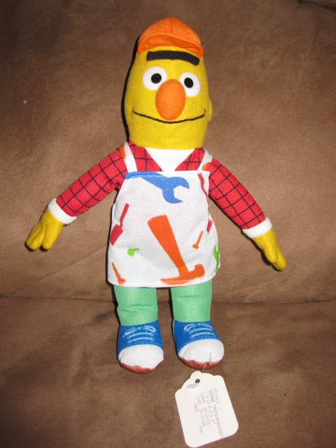 "Primary image for BERT HARDWARE STORE WORKER SESAME STREET PRE-PRODUCTION SAMPLE Plush 10"" PROMO"