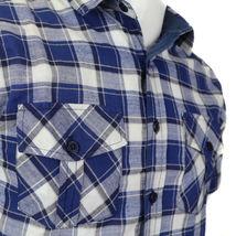 Overdrive Men's Cotton Plaid Button Up Casual Short Sleeve Slim Fit Dress Shirt image 12