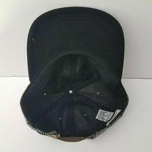 NEW Goodfellow & Co. Black Gray Orange Plaid Wool Blend Strap Back Cap Hat NWT image 3