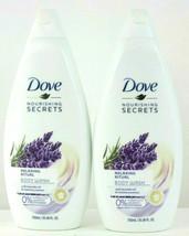 2 Pack Dove Nourishing Secrets Relaxing Ritual Body Wash Lavender Oil 25... - $32.66