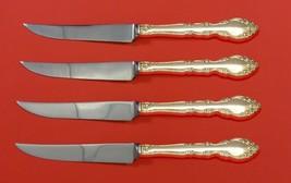 """Grandeur by Oneida Sterling Silver Steak Knife Set 4pc HHWS  Custom Made 8 1/2"""" - $247.10"""