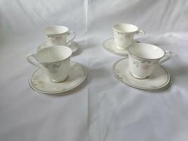 Vintage Royal Doulton Twilight Rose Cups & Saucers H5096 Bone China England 4 - $6.84