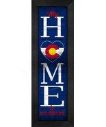 "Colorado ""HOME State Pride"" With Flag 8 x 24 Framed Print - $39.95"