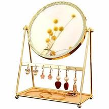 GloDeals Decorative Makeup Mirror Gold Vanity Mirror Makeup Organizer Co... - $34.83